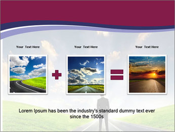 Businessman And Highway PowerPoint Templates - Slide 22