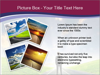 Businessman And Highway PowerPoint Template - Slide 23