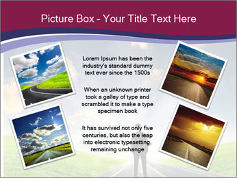 Businessman And Highway PowerPoint Template - Slide 24