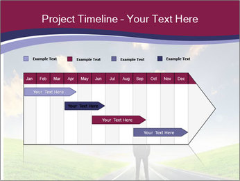 Businessman And Highway PowerPoint Templates - Slide 25
