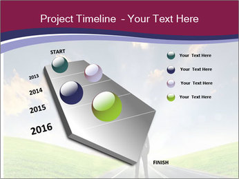 Businessman And Highway PowerPoint Templates - Slide 26