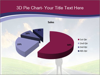 Businessman And Highway PowerPoint Template - Slide 35