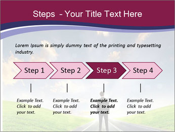 Businessman And Highway PowerPoint Templates - Slide 4