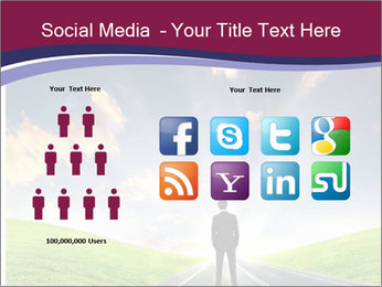 Businessman And Highway PowerPoint Templates - Slide 5