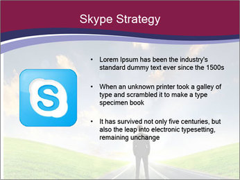 Businessman And Highway PowerPoint Templates - Slide 8