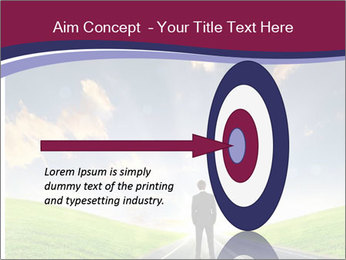Businessman And Highway PowerPoint Template - Slide 83