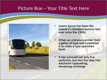 White Tourist Bus PowerPoint Template - Slide 13