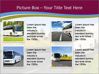 White Tourist Bus PowerPoint Template - Slide 14