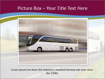 White Tourist Bus PowerPoint Template - Slide 15