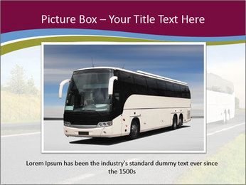 White Tourist Bus PowerPoint Template - Slide 16