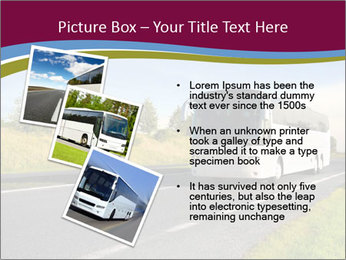 White Tourist Bus PowerPoint Template - Slide 17
