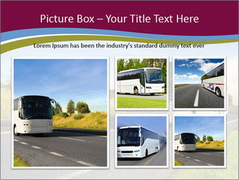 White Tourist Bus PowerPoint Template - Slide 19