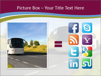 White Tourist Bus PowerPoint Template - Slide 21