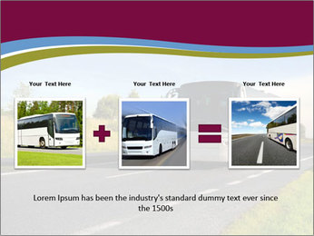 White Tourist Bus PowerPoint Template - Slide 22