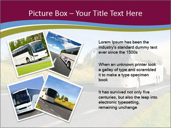 White Tourist Bus PowerPoint Template - Slide 23