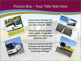 White Tourist Bus PowerPoint Template - Slide 24