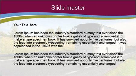 White Tourist Bus PowerPoint Template - Slide 2