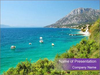 Mediterranean Coastline PowerPoint Template - Slide 1