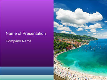 French Coastline PowerPoint Template - Slide 1