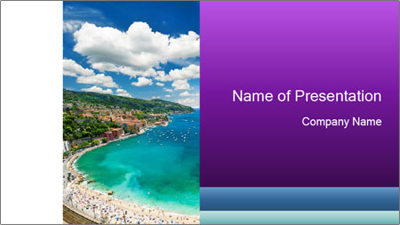 French Coastline PowerPoint Template