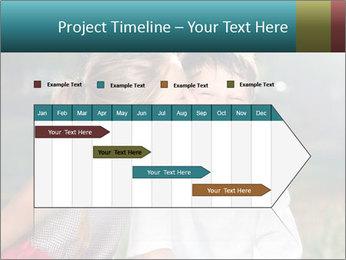 Sister's Kiss PowerPoint Template - Slide 25