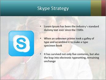 Sister's Kiss PowerPoint Template - Slide 8