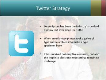 Sister's Kiss PowerPoint Template - Slide 9
