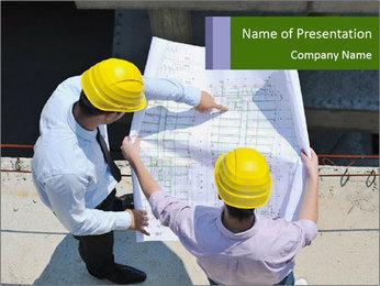 Two Engineers PowerPoint Template - Slide 1