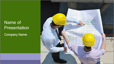 Two Engineers PowerPoint Template