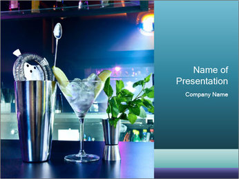 Cocktail With Ice PowerPoint Templates - Slide 1