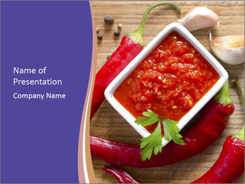 Red Sauce PowerPoint Template - Slide 1
