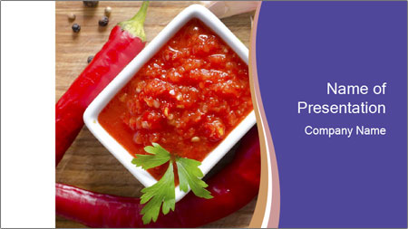 Red Sauce PowerPoint Template