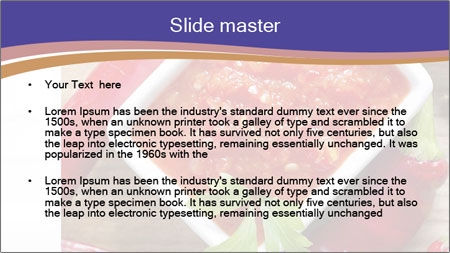 Red Sauce PowerPoint Template - Slide 2