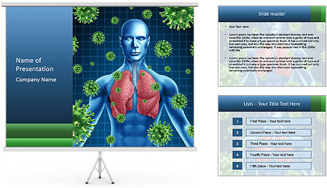 Human Body Model PowerPoint Template