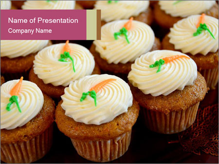 Cute Cupcakes PowerPoint Templates
