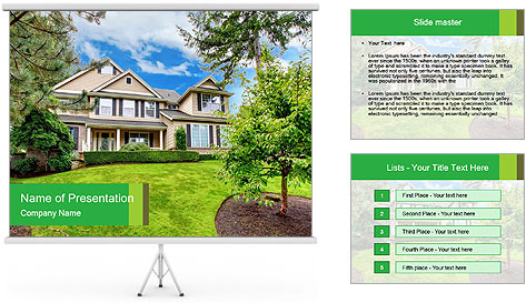 House For Rent PowerPoint Template