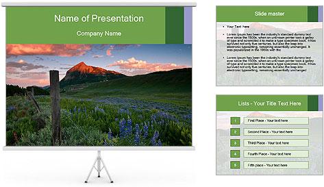 Beautiful Washington Gulch PowerPoint Template