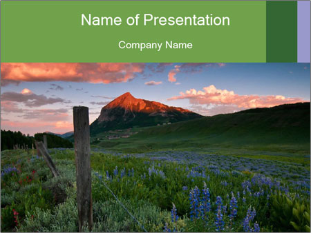 Beautiful Washington Gulch PowerPoint Templates