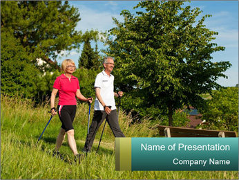 Sporty Retired Couple PowerPoint Template - Slide 1