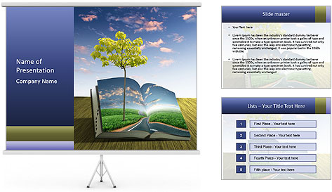 Book Of Nature PowerPoint Template
