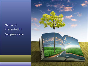 Book Of Nature PowerPoint Templates - Slide 1