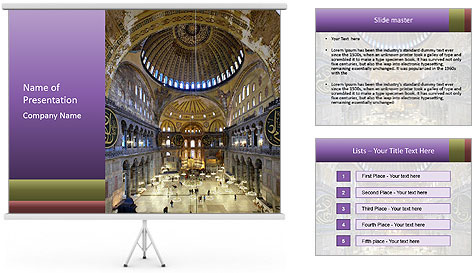 Church Ceiling PowerPoint Template