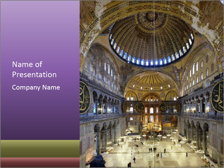 Church Ceiling PowerPoint Templates