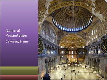 Church Ceiling PowerPoint Template - Slide 1