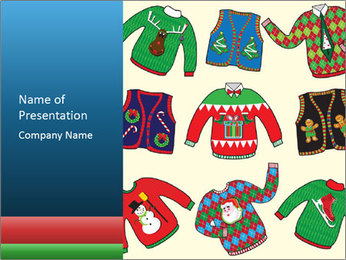 Christmas Jumpers PowerPoint Template - Slide 1