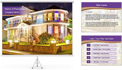 Glass Cottage PowerPoint Template