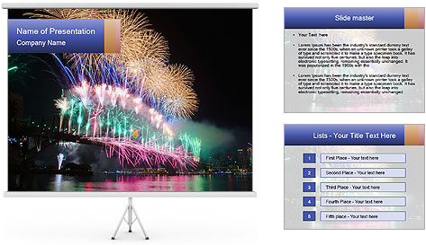 Party On Cruise Boat PowerPoint Template