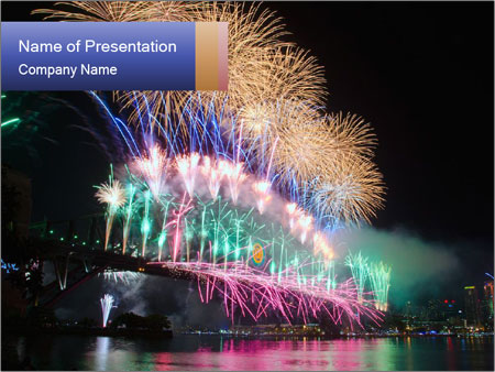 Party On Cruise Boat PowerPoint Templates
