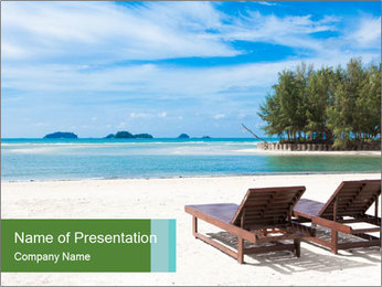 Thailand Summer Destination PowerPoint Template - Slide 1