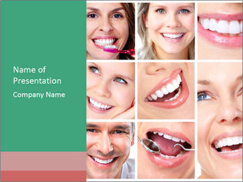 Smiles With White Teeth PowerPoint Template - Slide 1